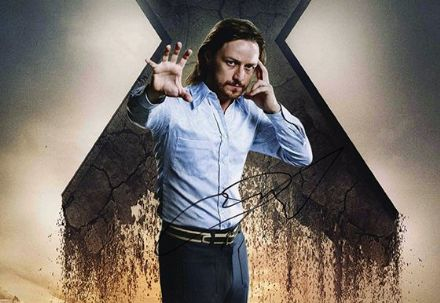 James McAvoy, X-Men, signed 12x8 inch photo.